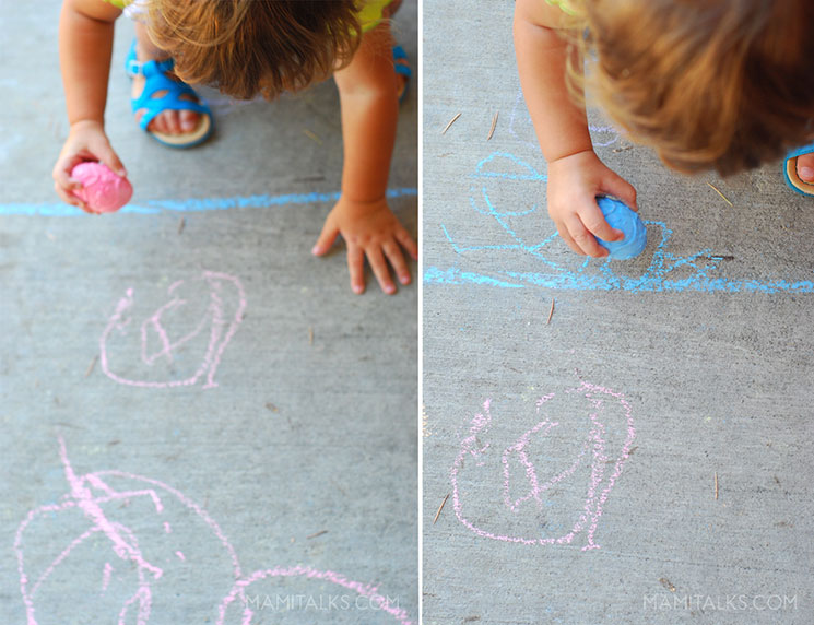 Drawing with chalk -MamiTalks.com