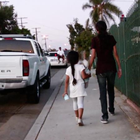 Girl-walking-Home