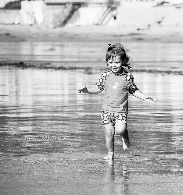 girl running in the beach