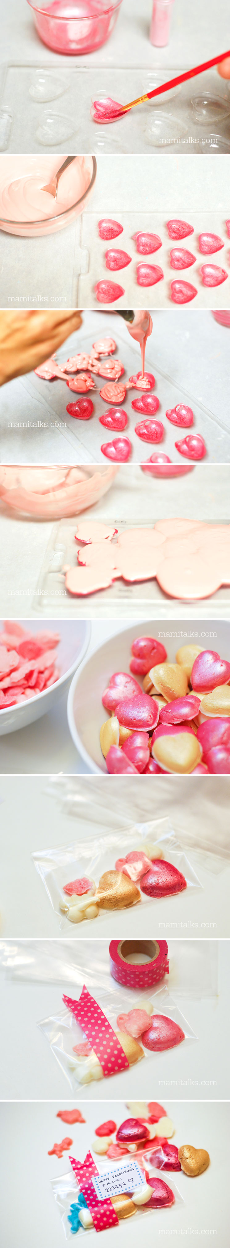 DIY Shimmer Valentine Candy Hearts -MamiTalks.com
