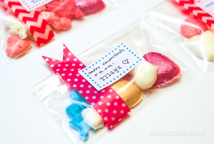 DIY Valentine Candy hearts with bags -MamiTalks.com