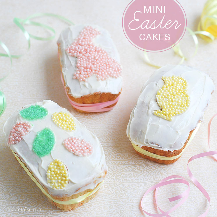 Easter mini cakes decoration -MamiTalks.com
