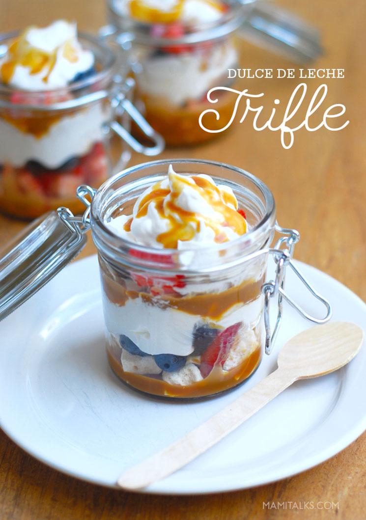 Dulce de leche trifle dessert -MamiTalks.com
