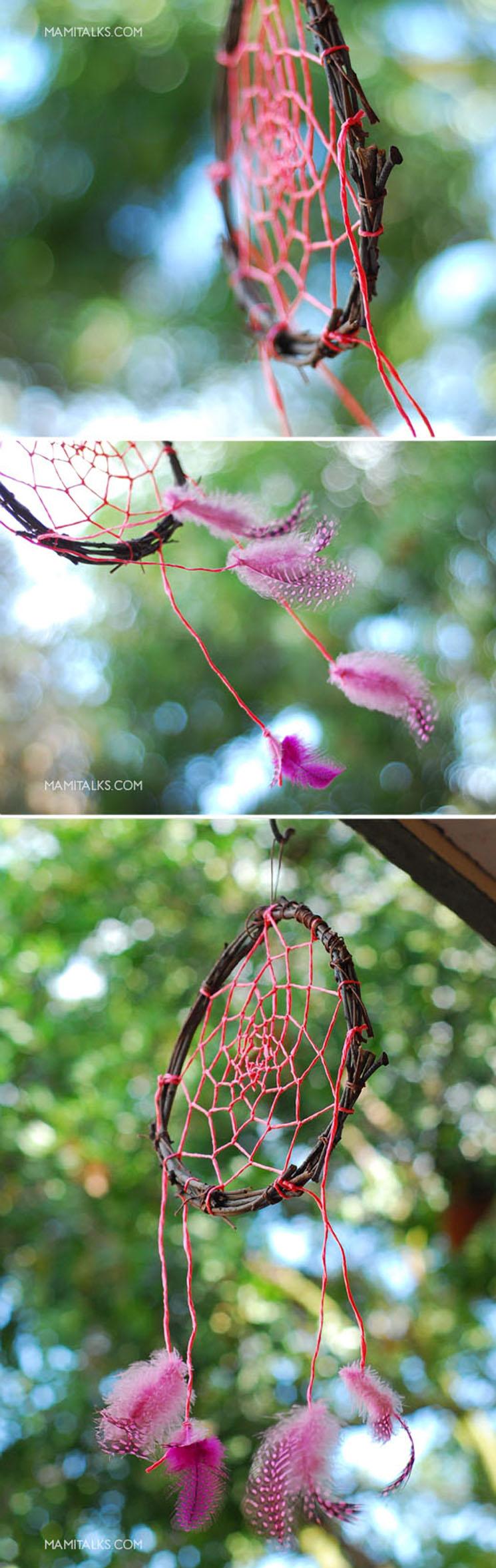 Photos of dreamcatcher with pink. MamiTalks.com