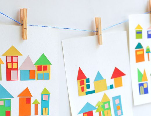 Paint-chip-craft artwork hanged on line -MamiTalks.com