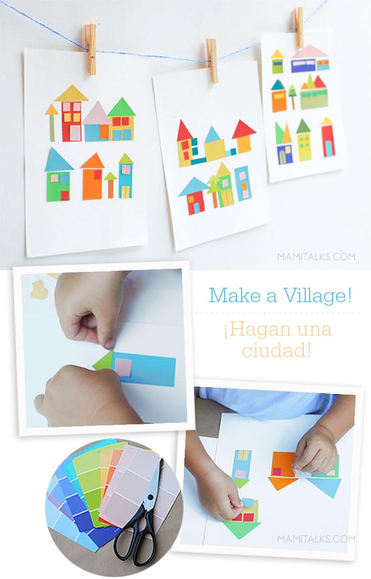 Paint-chip craft artwork for kids -mamitalks
