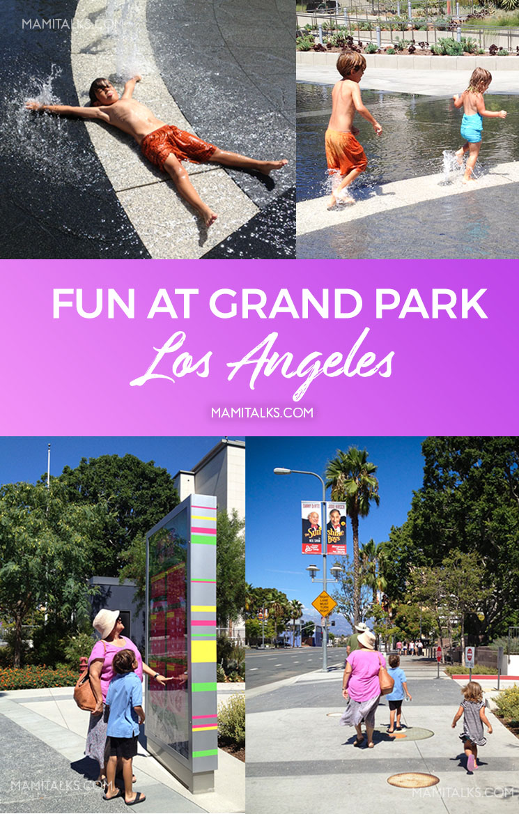Pictures of family enjoying Grand Park Los Angeles. -MamiTalks.com