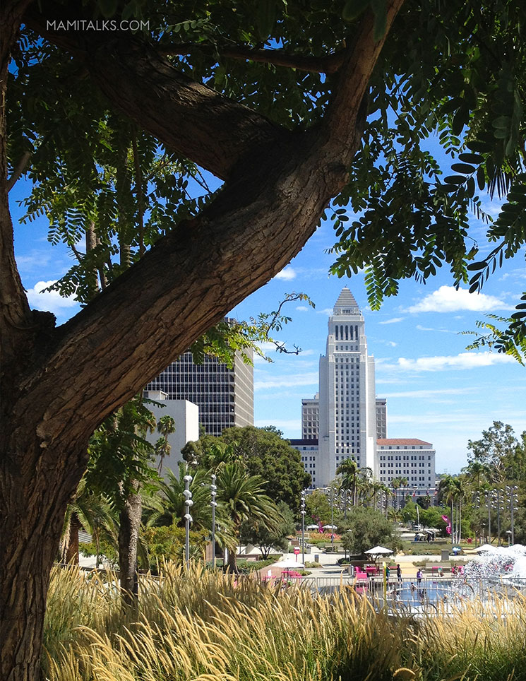 Downtown Los Angeles Grand Park view. -MamiTalks.com
