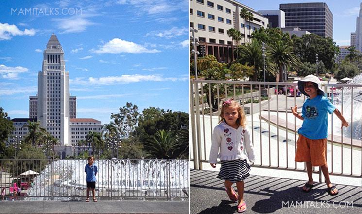Grand Park Los Angeles with kids. -MamiTalks.com