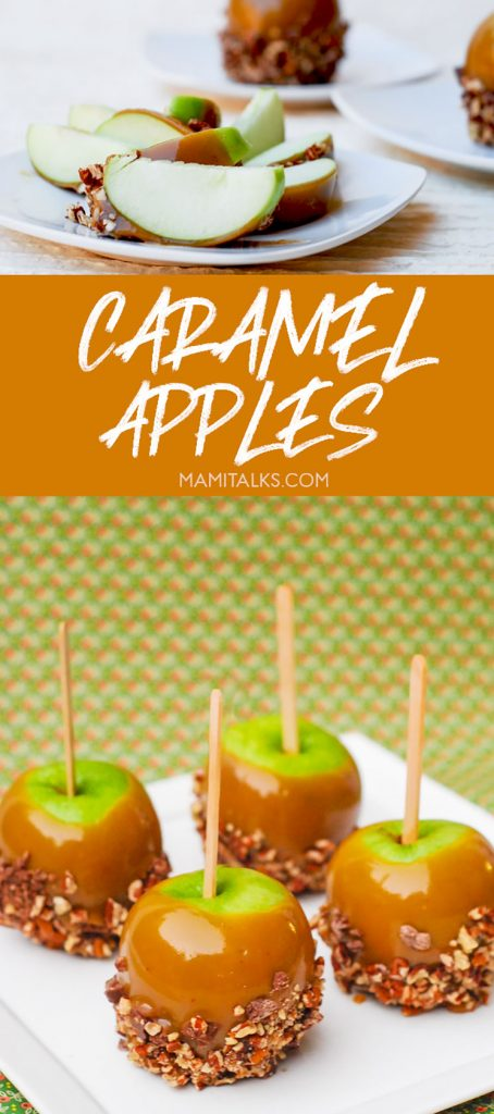 CARAMEL APPLES cut and uncut. -MamiTalks.com