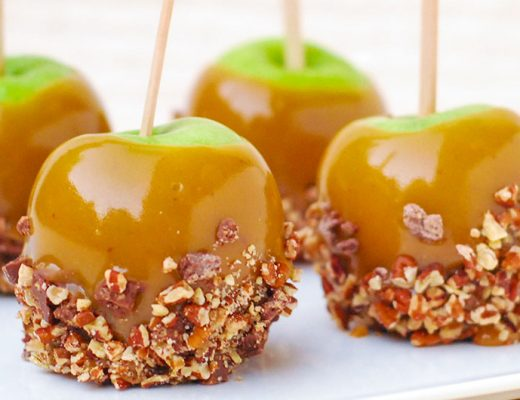 Caramel apples featured in mamiTalks.com