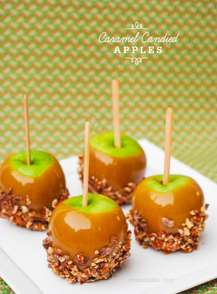 Caramel apples with nuts -MamiTalks.com