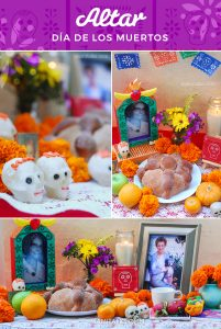 Día de los Muertos Altar. A sample of an altar for Day of the Dead, a mexican tradition that helps the family remember the loved ones that passed away. -MamiTalks.com