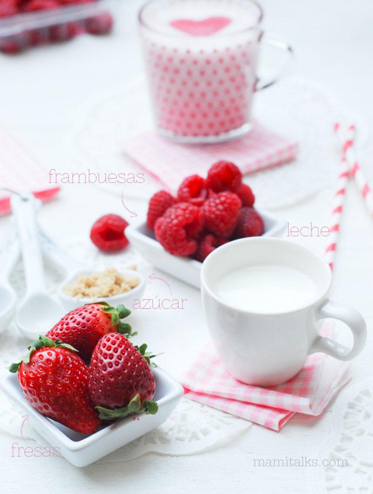 Bebida de leche con fresa -MamiTalks.com