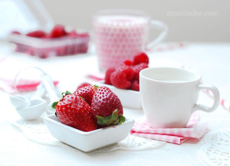 Como hacer merengada de fresa para San Valentín -MamiTalks.com