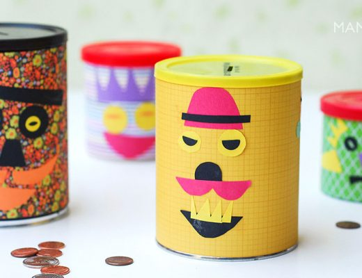 DIY Piggy banks, made out of cans. -mamitalks.com
