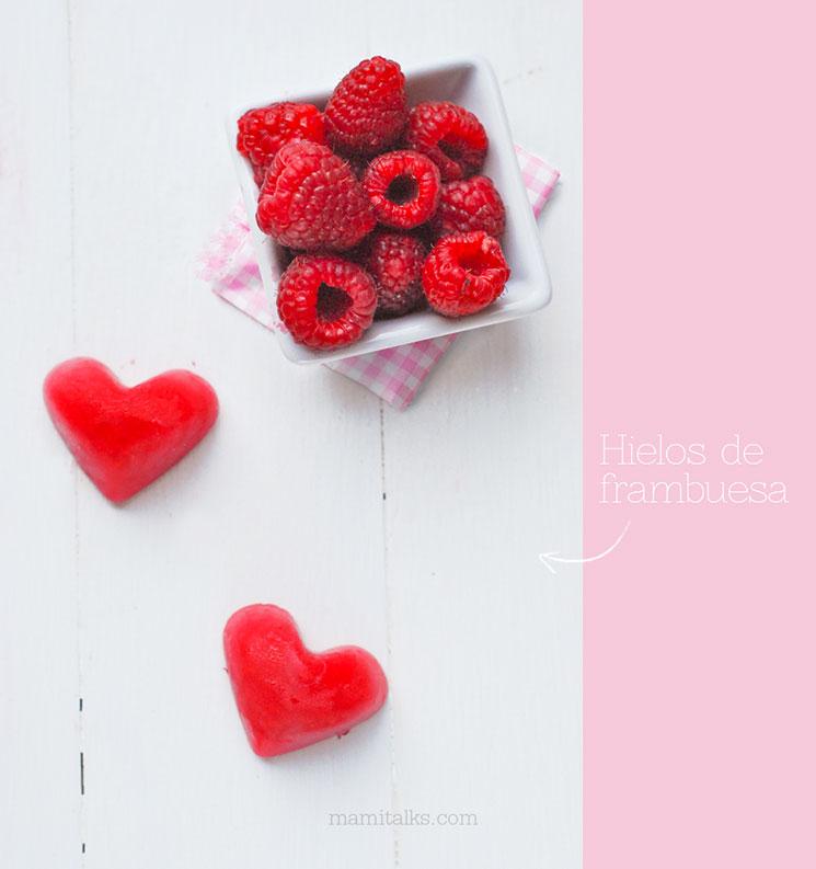 Hielos en forma de corazón -MamiTalks.com