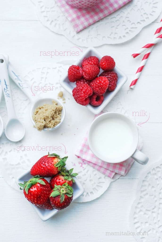 How to make a Milk Strawberry Smoothie