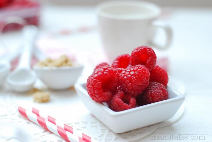 Raspberry Strawberry Milk Shake