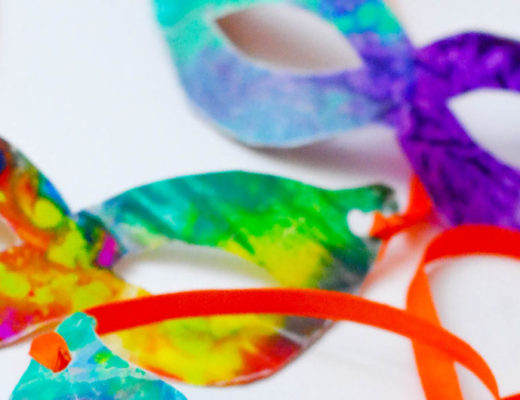 Carnaval Crafts Ideas, make these colorful masks plus more! -MamiTalks.com