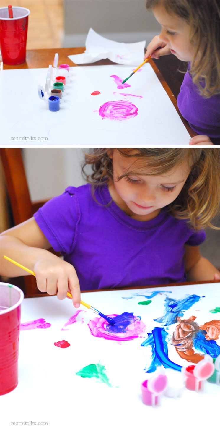 How to make colorful masks with crayons -MamiTalks.com
