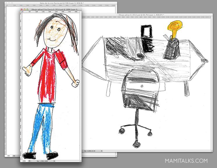 Scanned drawings for teachers gift. -MamiTalks.com