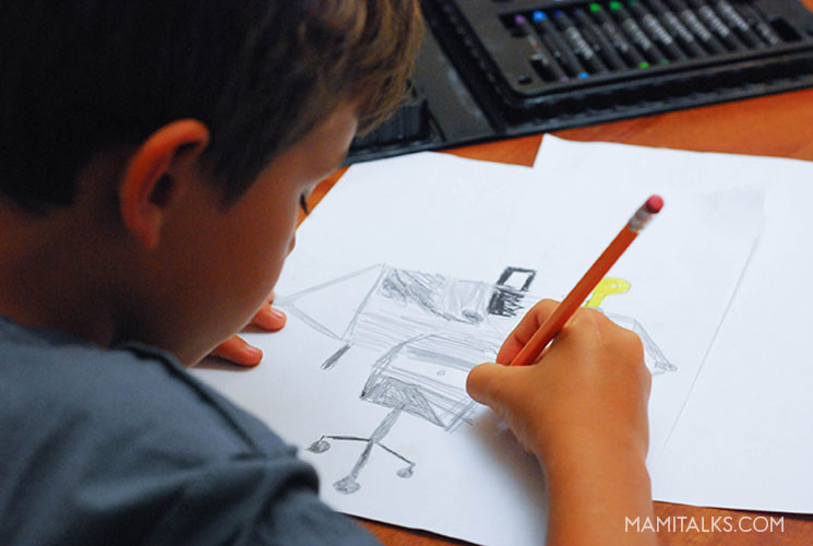 Kid drawing for a teacher gift. MamiTalks.com