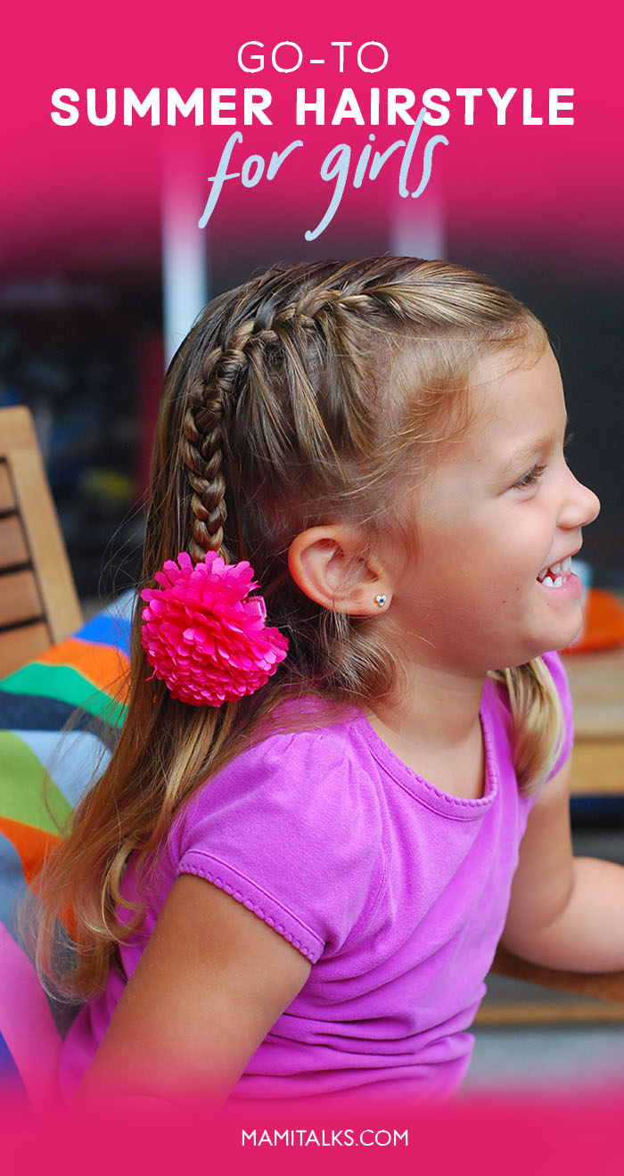 Girl smiling with cute french braid. MamiTalks.com