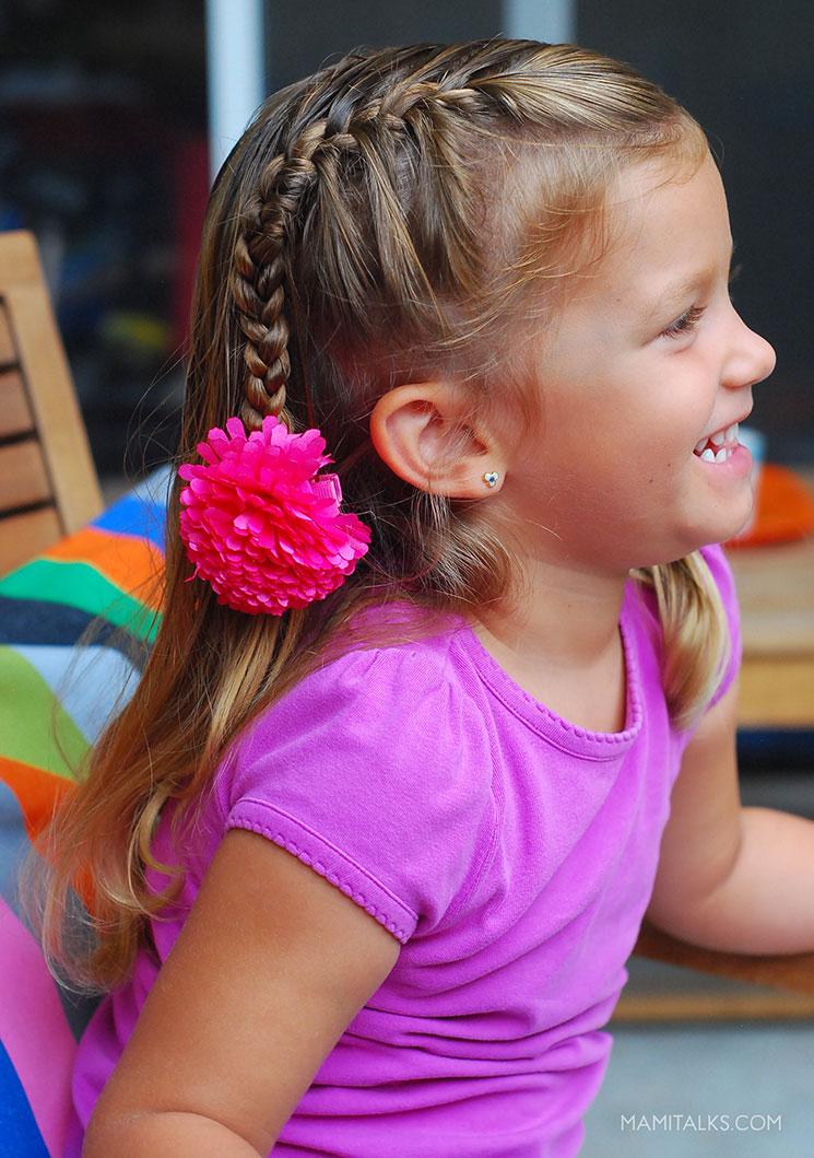Niña con peinado de verano. MamiTalks.com