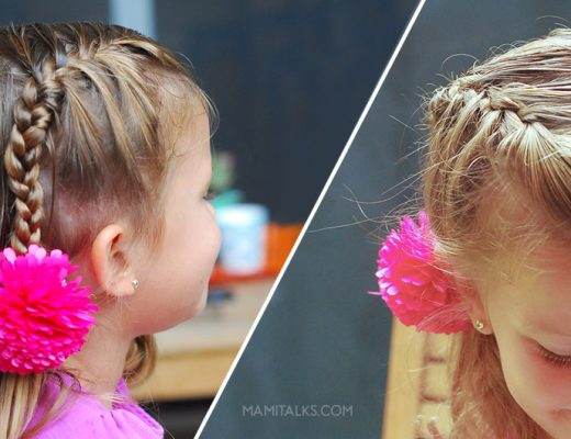 Summer hairstyle for girls, half french braid. -MamiTalks.com