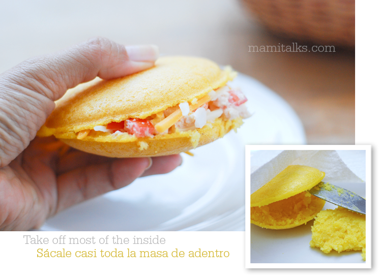 Arepa with tuna -MamiTalks.com