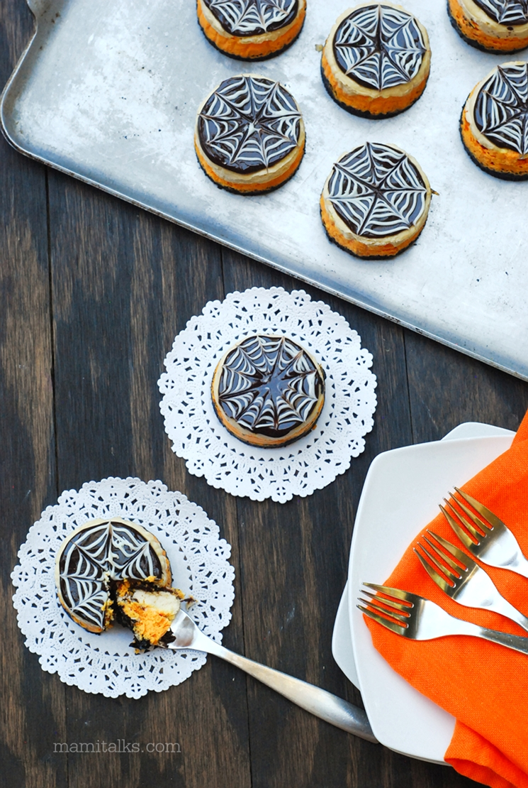 Mini Cheesecakes for Halloween -MamTalks.com