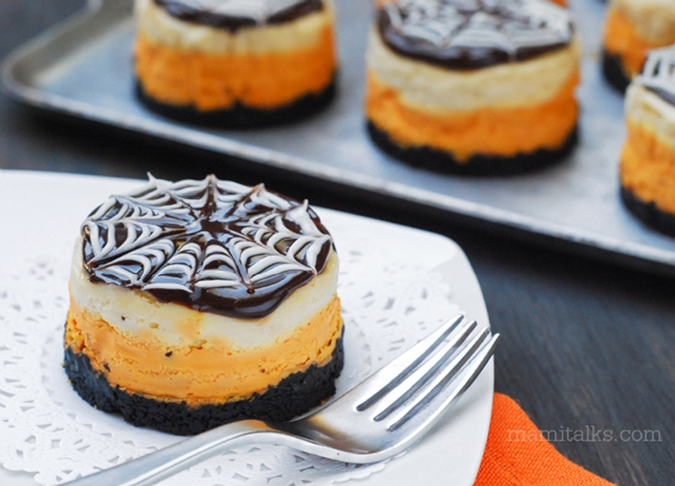 Halloween Mini Cheesecakes, step-by-step -MamiTalks.com