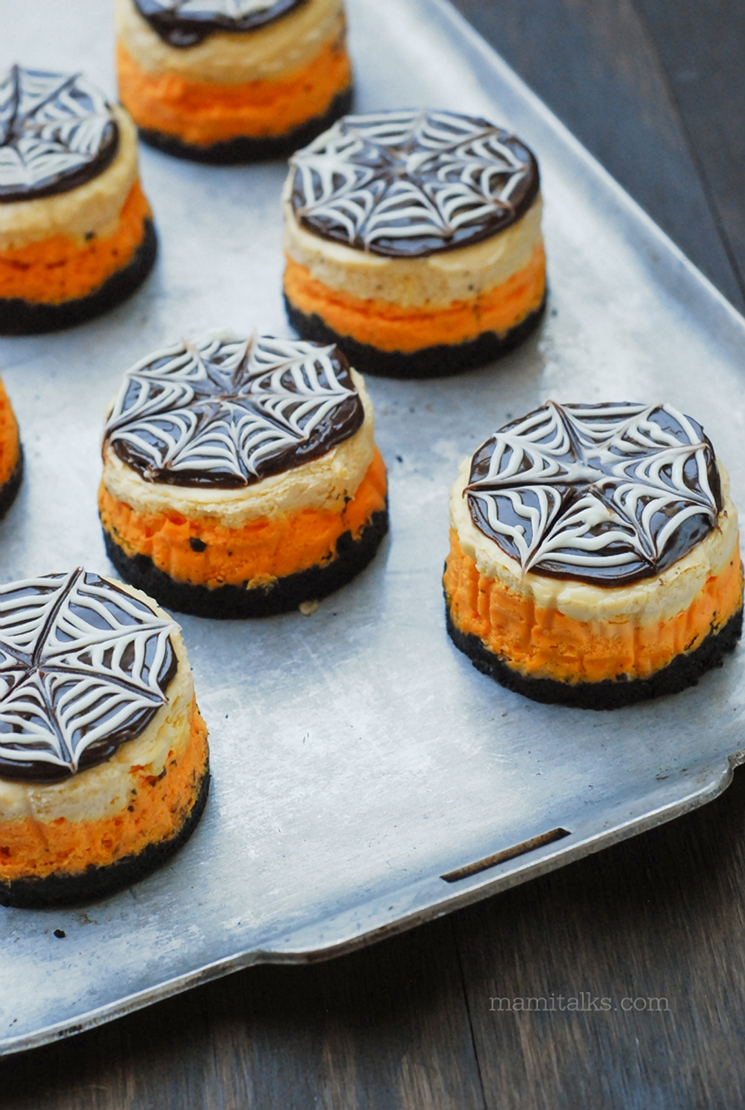 Mini tortas de queso para Halloween -MamiTalks.com