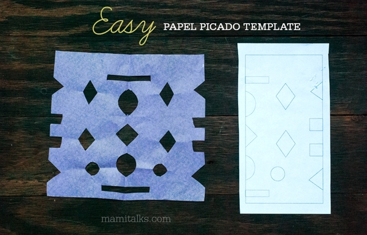 Easy papel picado template, download and print your own. -MamiTalks.com