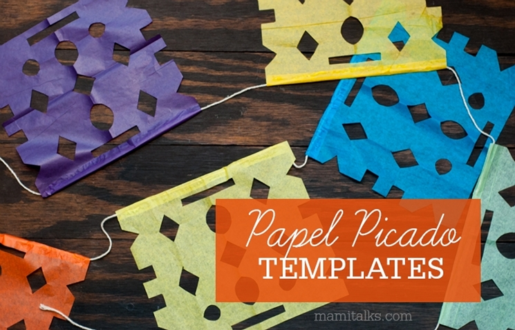 Papel picado templates mami talks for Papel picado template for kids