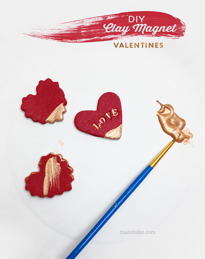 DIY clay magnet valentines -MamiTalks.com