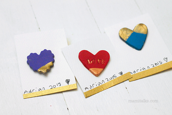 DIY Valentine magnets with clay and paint-Mamitalks.com