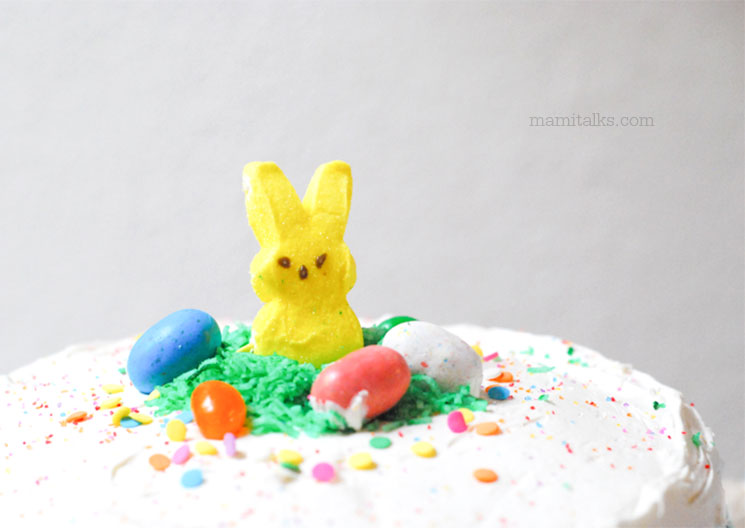 Cute Easter cake decoration idea -MamiTaks.com