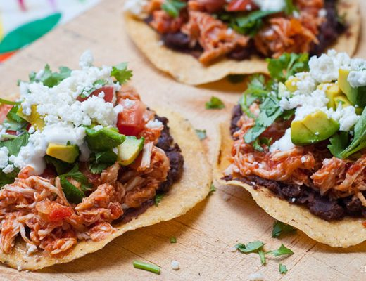 Chicken Mexican tostadas for 5 de Mayo! -MamiTalks.com