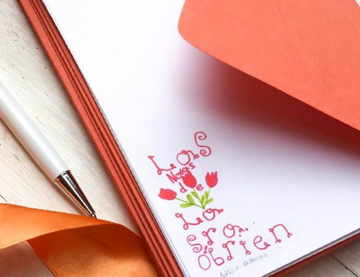 Personalized notecards for teachers made by kids. -MamiTalks.com