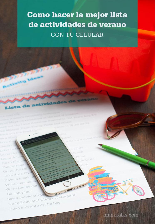 Como hacer una lista para el verano con tu celular -MamiTalks.com
