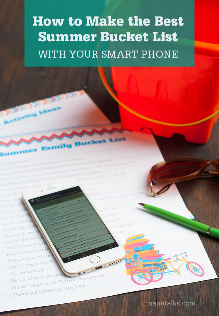 How to make a Summer bucket list with your Smartphone, tips and tricks and discover apps! -mamitalks.com