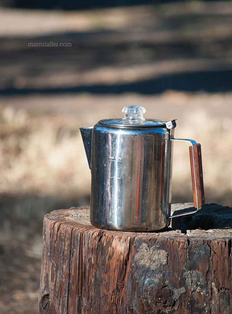 Coffee at camping -MamiTalks.com