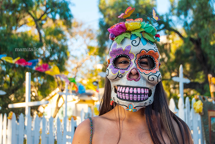 Colorful Catrina mask -MamiTalks.com