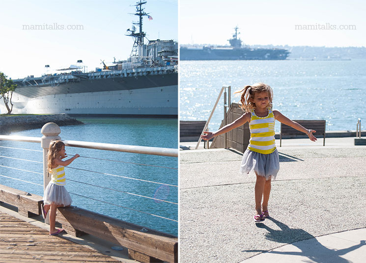 Fun at the Midway museum in San Diego -MamiTalks.com
