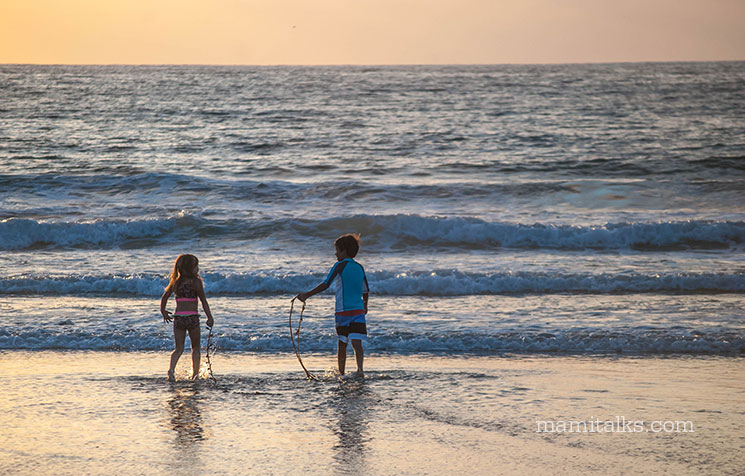 La Jolla Shores during sunset -MamiTalks.com