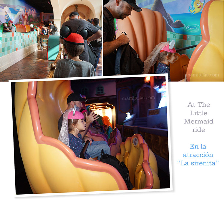 One upon a Time at Disneyland, Little Mermaid ride. -MamiTalks.com