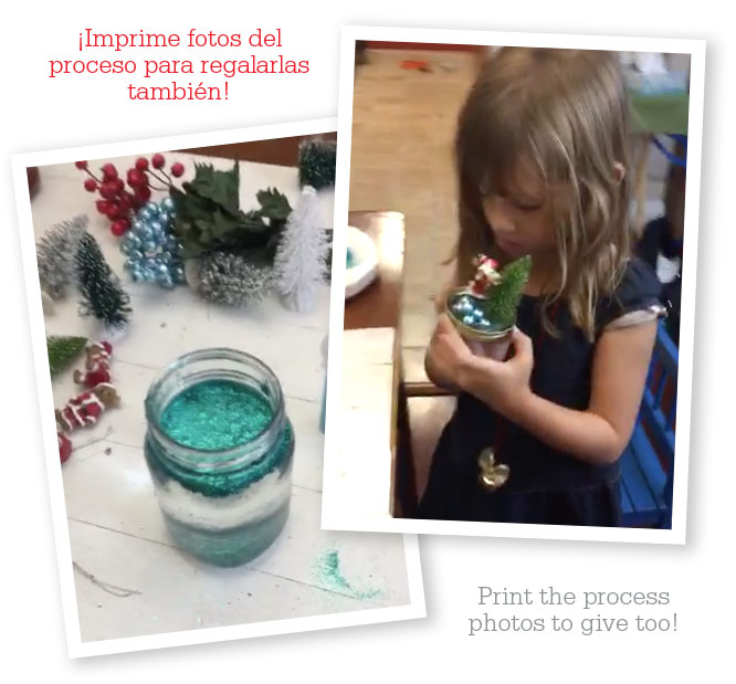 little girl making snow globes at home -MamiTalks.com