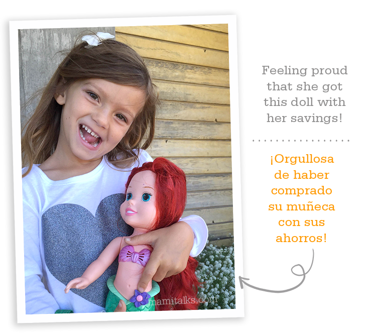 Buying a doll with savings -mamitalks.com